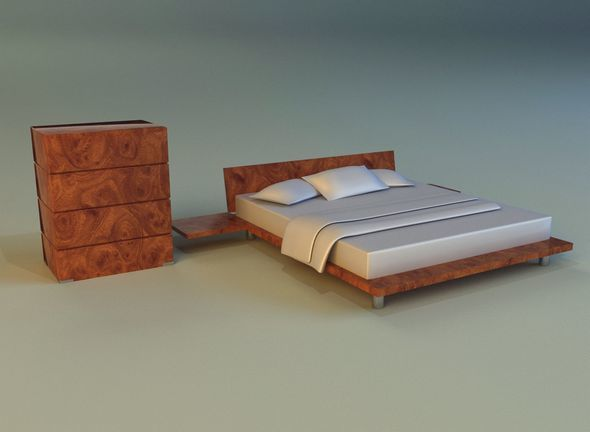 Bed pattern wood - 3DOcean Item for Sale