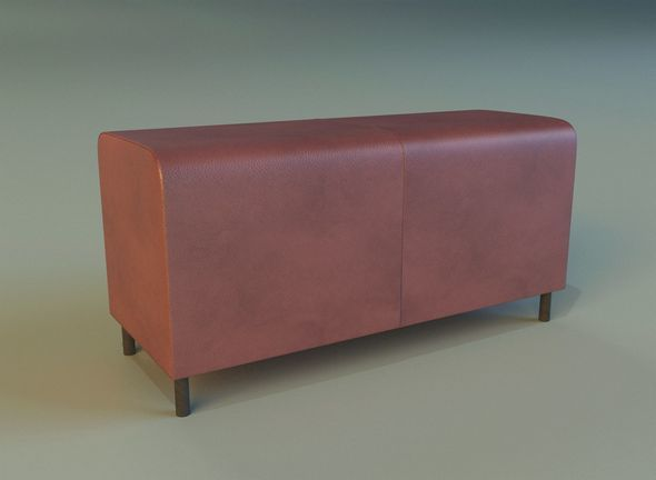 Banquette leather - 3DOcean Item for Sale
