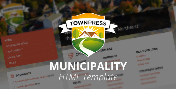 TownPress – Municipality HTML Template