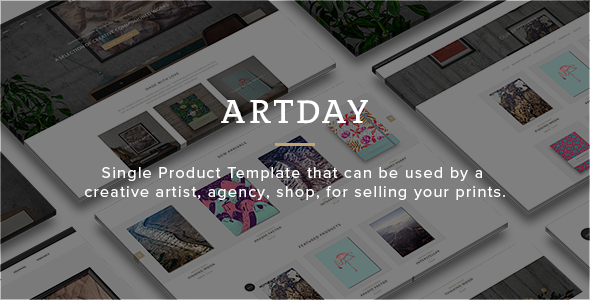Artday – Creative Shop Template