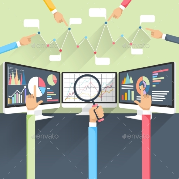 Stock Exchange R\ates On Monitors - Concepts Business