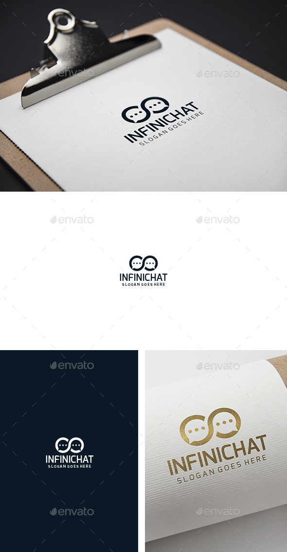 Infinity Chat Connection Logo - Abstract Logo Templates