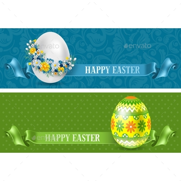 Easter Banners - Backgrounds Decorative