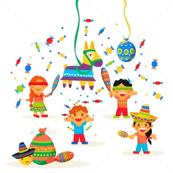 Children Celebrate Posada - Birthdays Seasons/Holidays