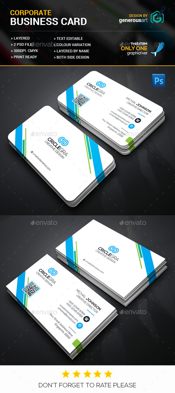 Circle Corporate Business Card - Corporate Business Cards