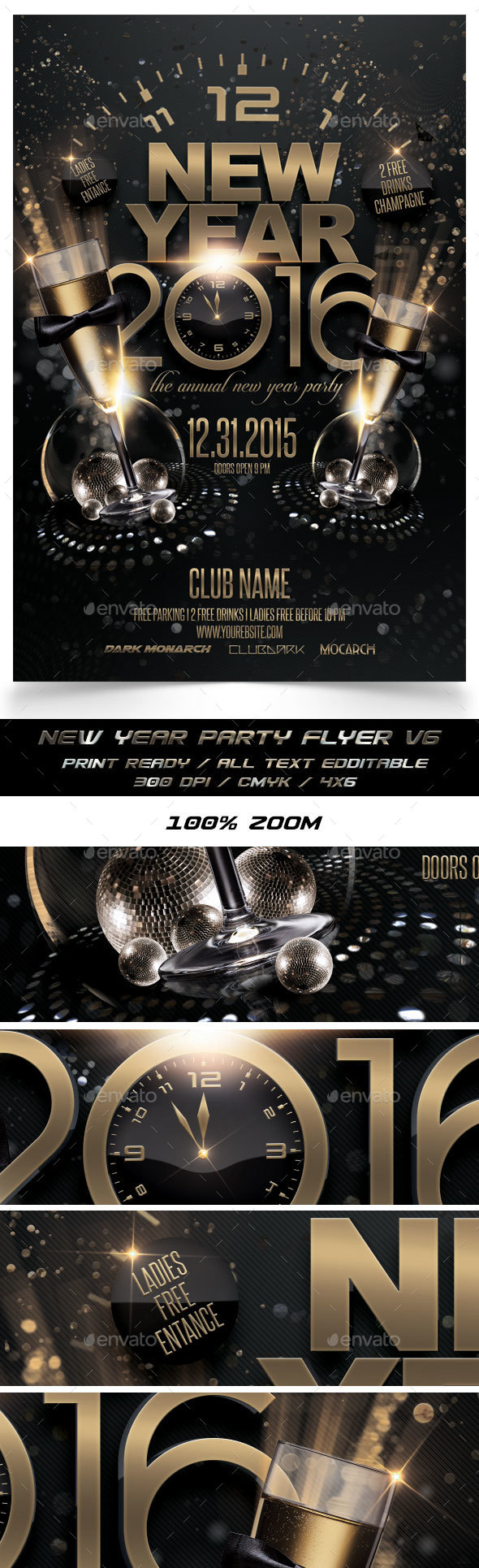 New Year Party Flyer V6 - Events Flyers