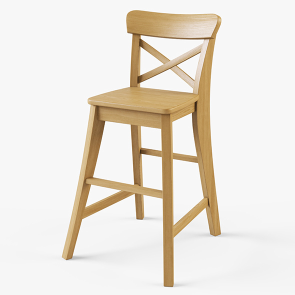 Junior Chair Ikea Ingolf - 3DOcean Item for Sale