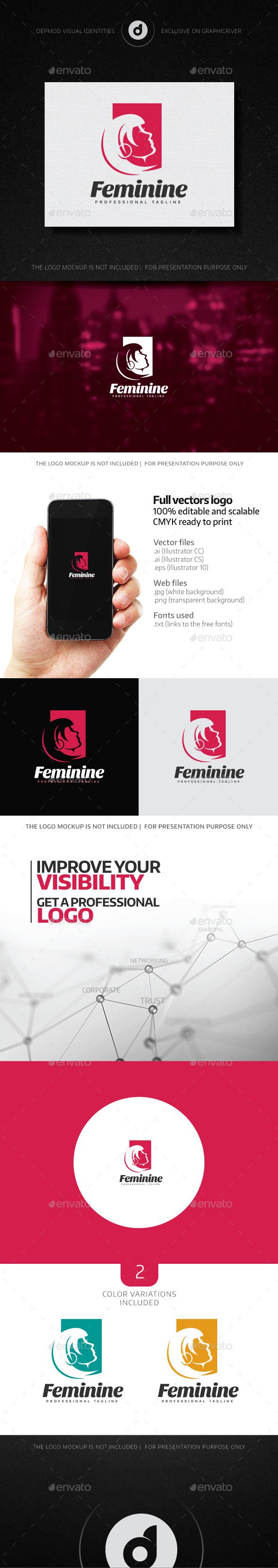Feminine Logo - Humans Logo Templates
