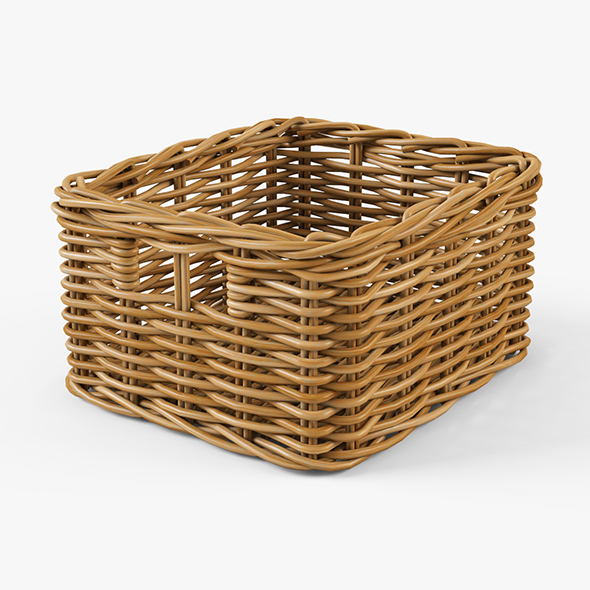 Wicker Basket Ikea Byholma 1 Natural - 3DOcean Item for Sale