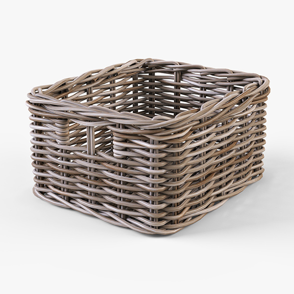 Wicker Basket Ikea Byholma 1 Gray - 3DOcean Item for Sale