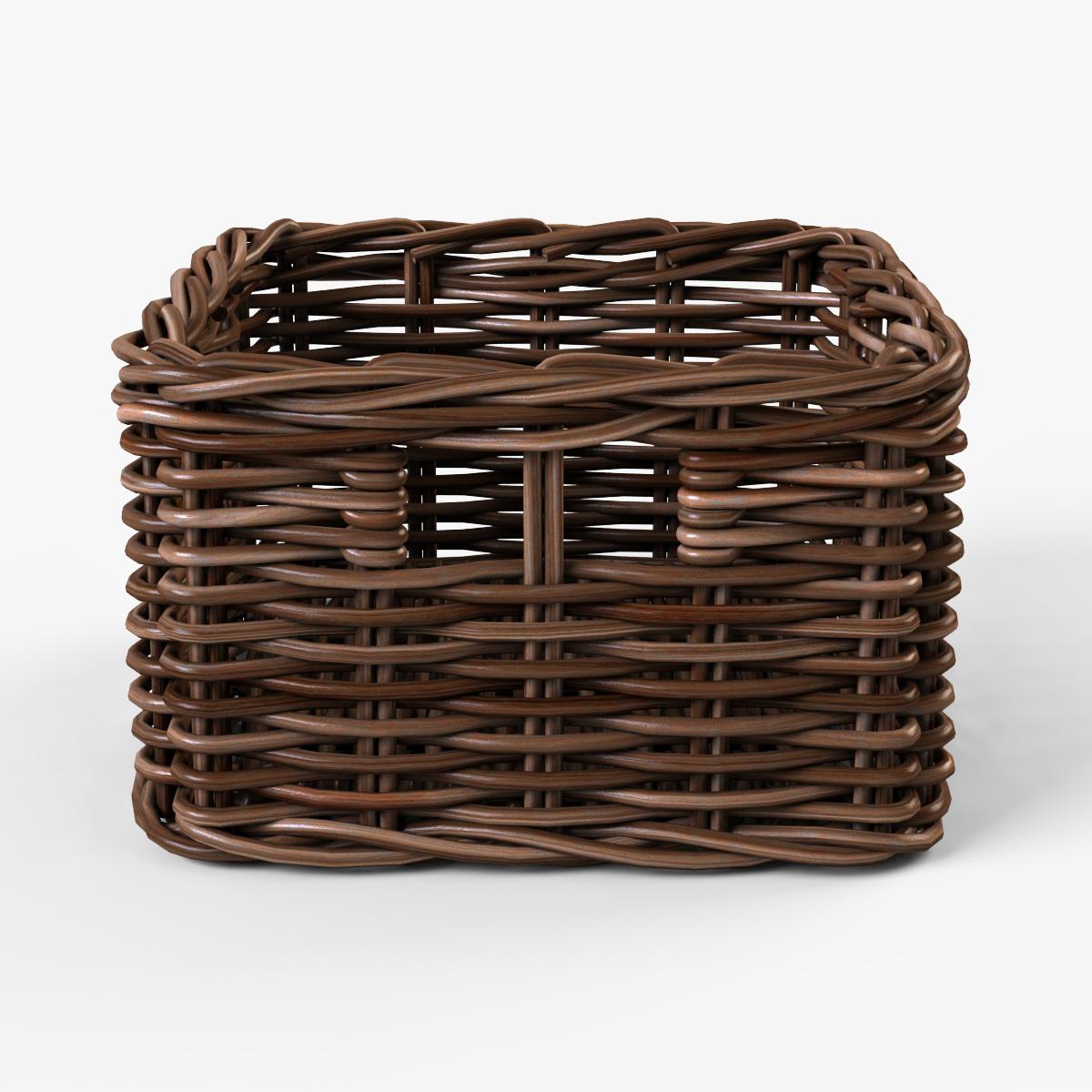 Wicker Basket Ikea Byholma 1 Brown