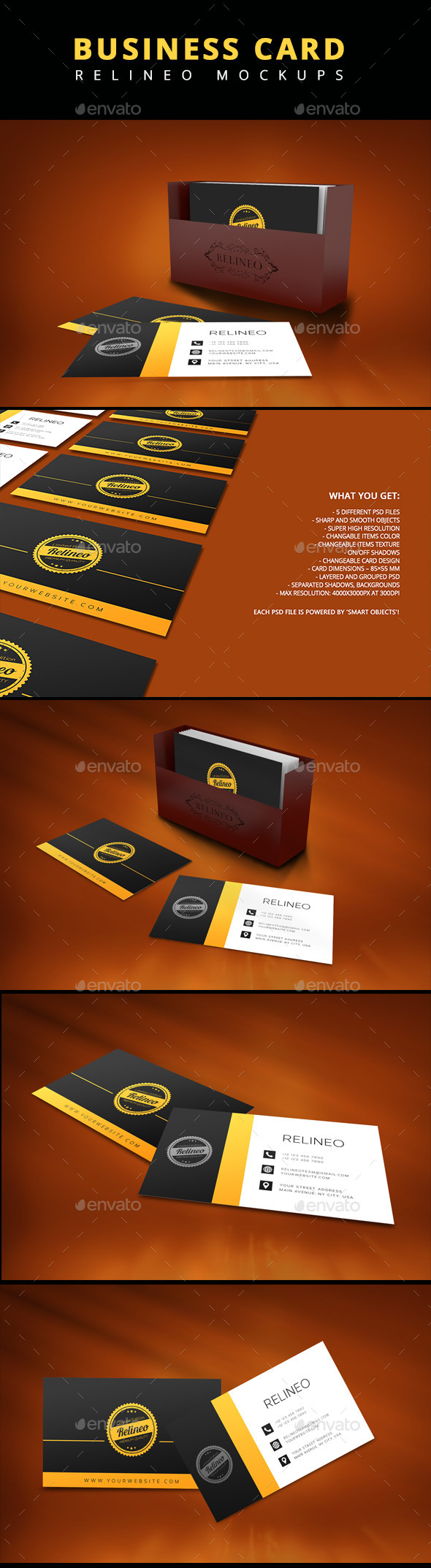 Business Card Mock-up Pack Vol.1 - Business Cards Print