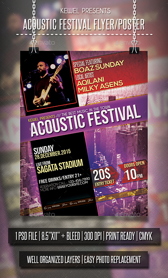 Acoustic Festival Flayer / Template - Events Flyers