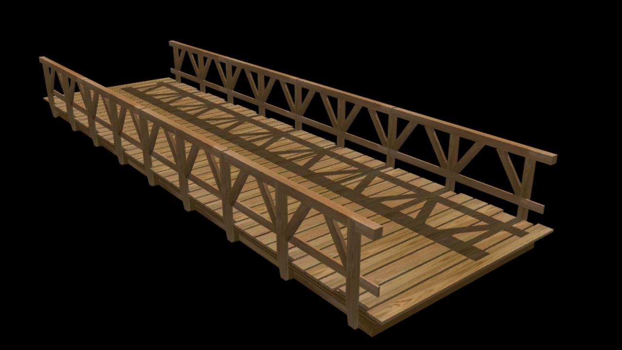 Wooden Bridge By Fiveaxiomsinc 3docean