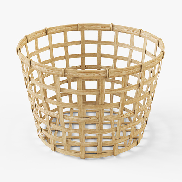 Wicker Basket Ikea Gaddis (diameter 32) - 3DOcean Item for Sale