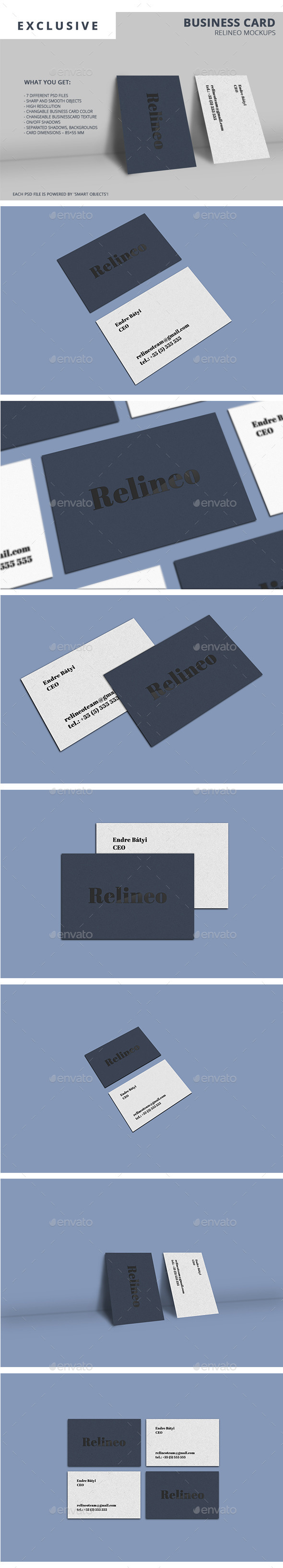 Business Card Mock-up Pack Vol.2 - Business Cards Print
