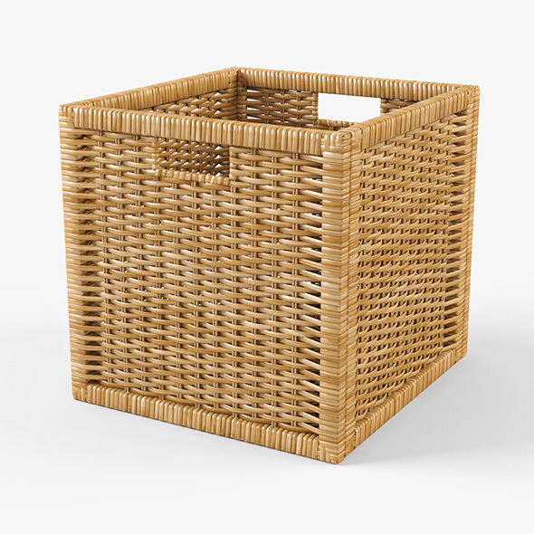 Rattan Basket Ikea Branas (Natural Color) - 3DOcean Item for Sale