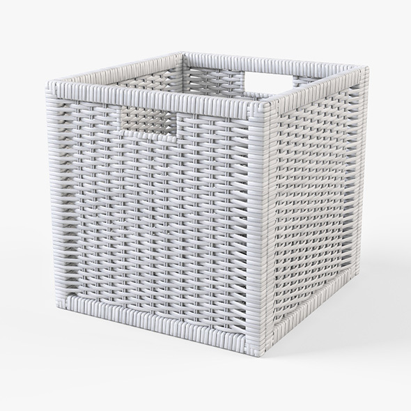 Rattan Basket Ikea Branas (White Color) - 3DOcean Item for Sale