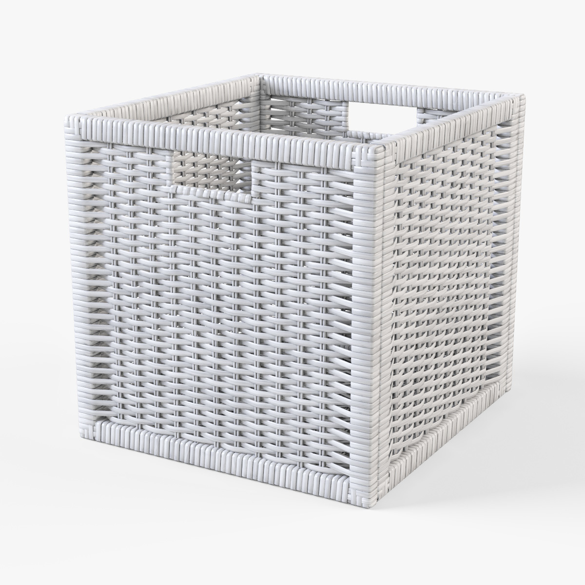 rattan basket ikea branas white color by markelos 3docean. Black Bedroom Furniture Sets. Home Design Ideas