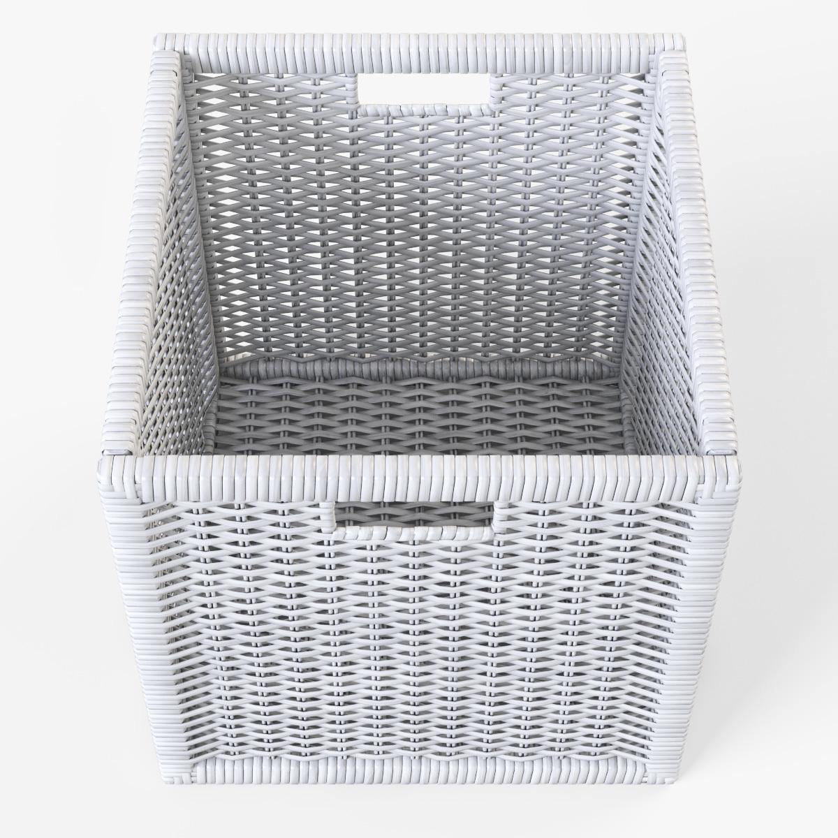 Rattan Basket Ikea Branas White Color By Markelos 3docean