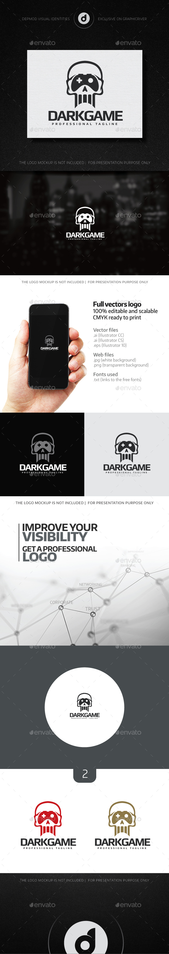 Dark Game Logo - Objects Logo Templates