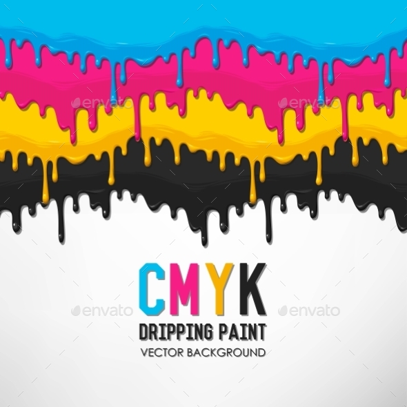 Dripping Paint Vector Background - Backgrounds Decorative