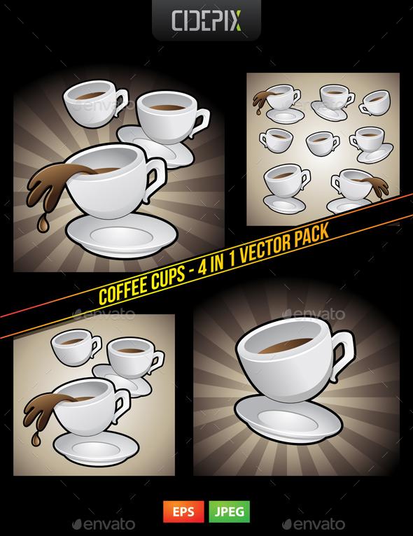 Coffee Cups - Vectors