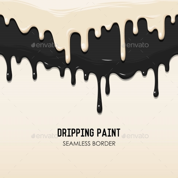 Dripping Paint Seamless Border - Backgrounds Decorative