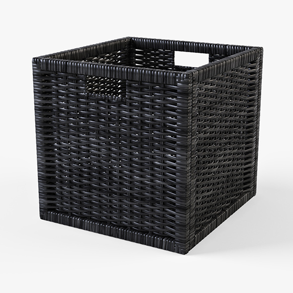 Rattan Basket Ikea Branas (Black Color) - 3DOcean Item for Sale