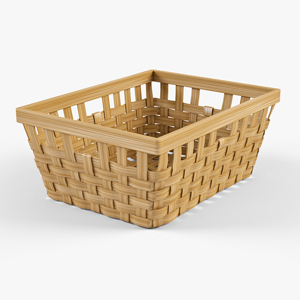 Wicker Basket Ikea Knarra 1 (Natural Color) - 3DOcean Item for Sale