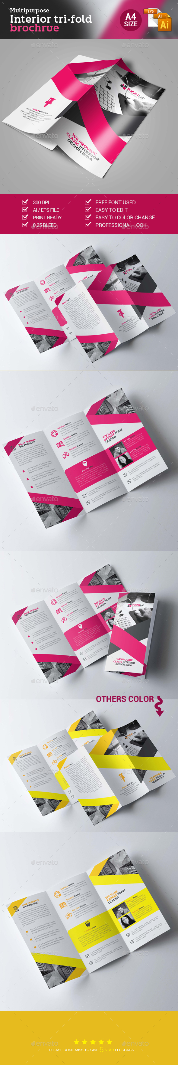 Corporate Business Trifold Brochure - Brochures Print Templates