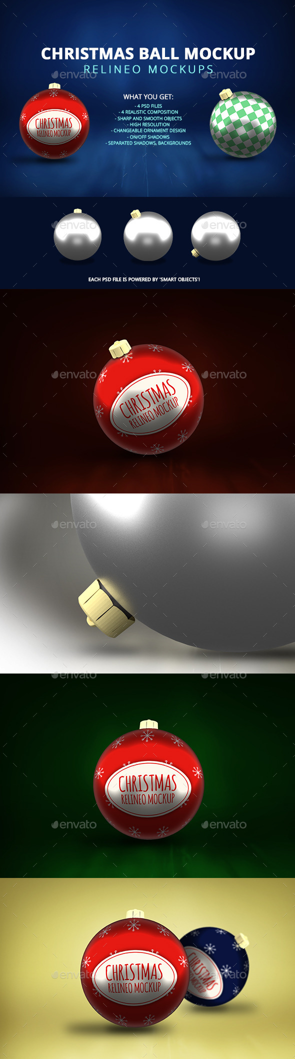 Christmas Decoration Mock-up Pack - Miscellaneous Product Mock-Ups