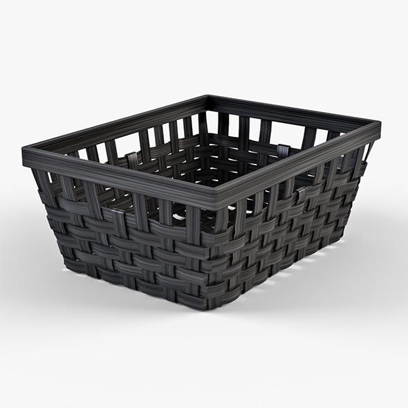 Wicker Basket Ikea Knarra 1 (Black Color) - 3DOcean Item for Sale