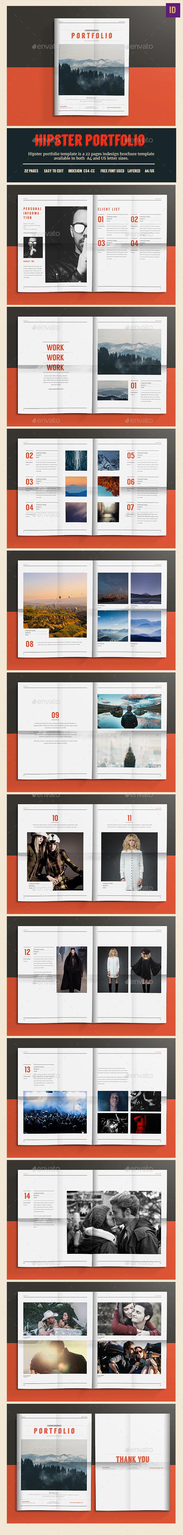 Hipster Portfolio - Portfolio Brochures