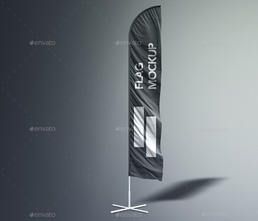 3d flags feather bow sail flag mockup by sreda graphicriver. Black Bedroom Furniture Sets. Home Design Ideas