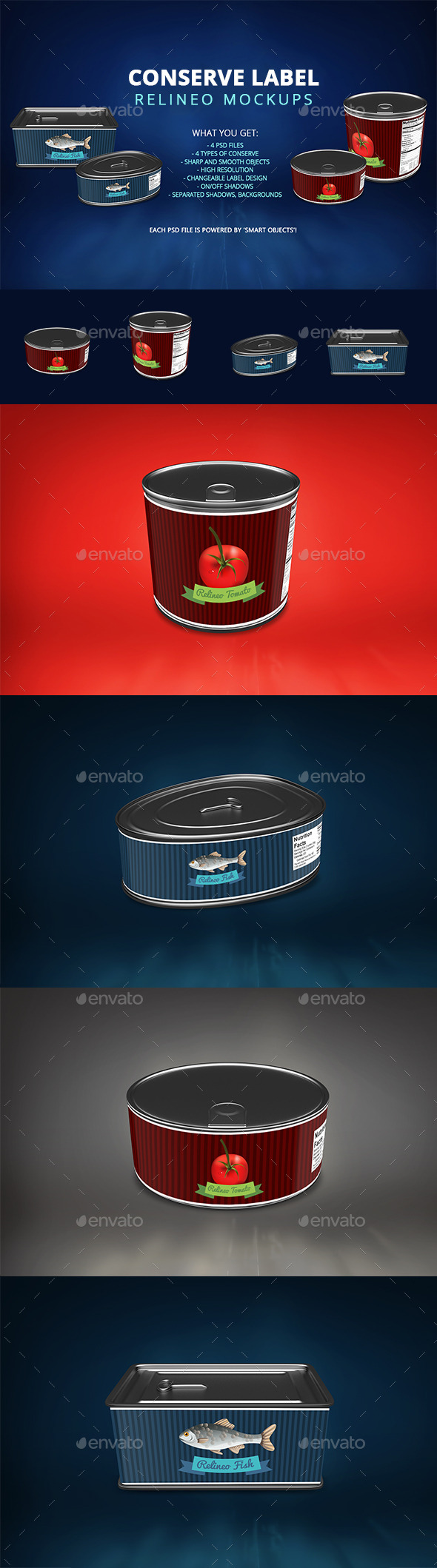 Can Mock-up Pack - Food and Drink Packaging