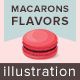 Macarons Flavors Illustration - GraphicRiver Item for Sale