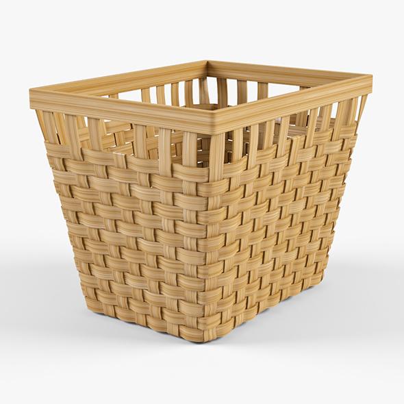 Wicker Basket Ikea Knarra 2 (Natural Color) - 3DOcean Item for Sale