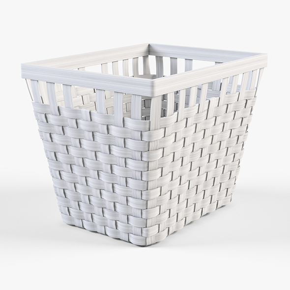 Wicker Basket Ikea Knarra 2 (White Color) - 3DOcean Item for Sale