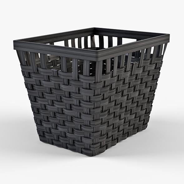 Wicker Basket Ikea Knarra 2 Black Color - 3DOcean Item for Sale