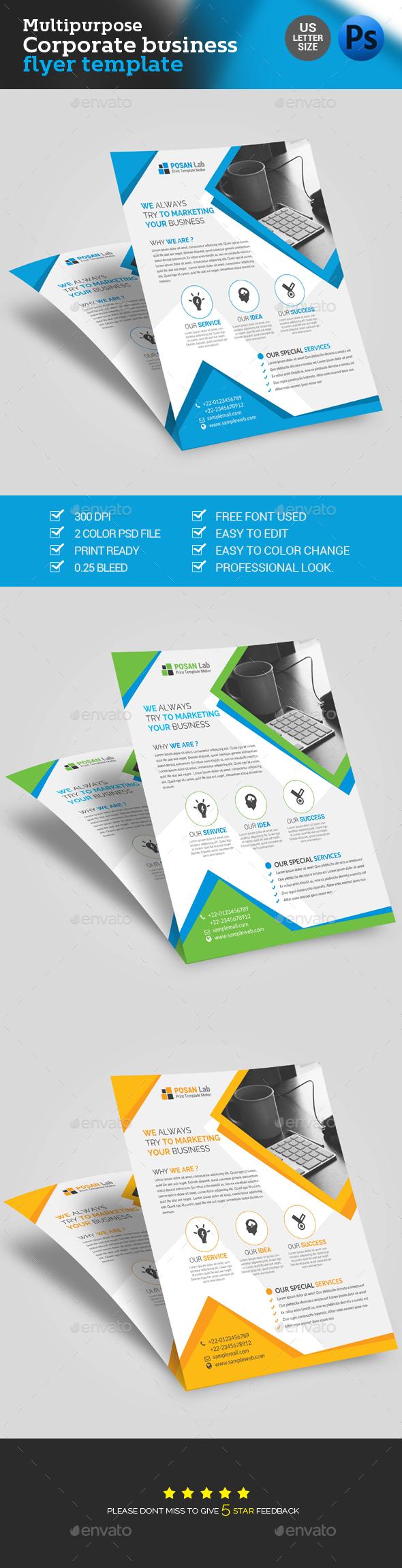 Corporate Flyer  - Brochures Print Templates