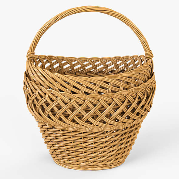 Wicker Basket 01 - 3DOcean Item for Sale