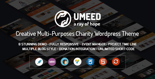 Umeed – Charity WordPress Multipurpose Theme