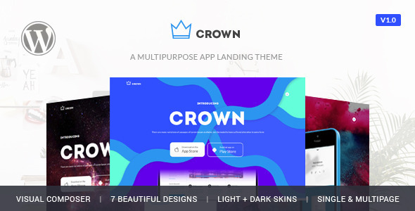 Crown – App Showcase Responsive Theme