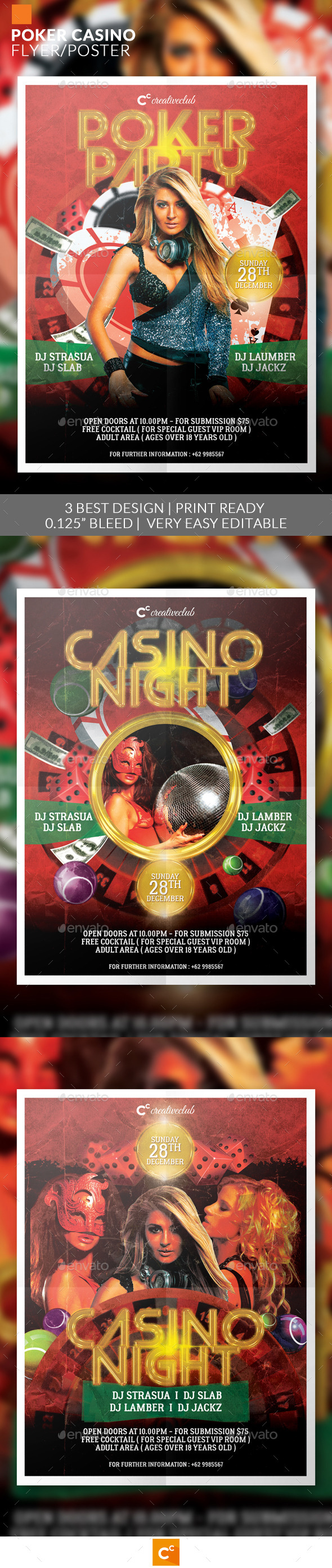Poker Casino Flyer/Poster - Miscellaneous Events