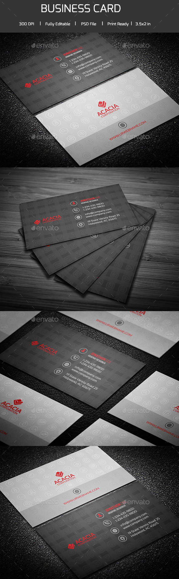 SocialIcons Business Card - Corporate Business Cards