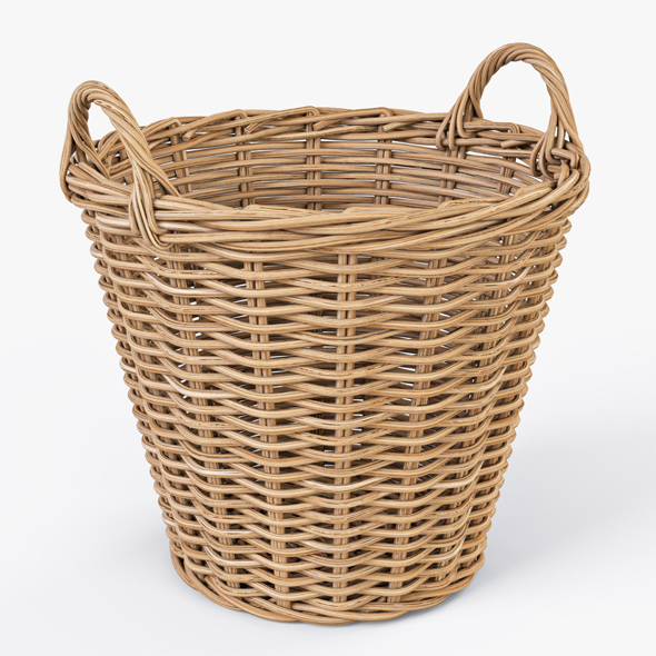 Wicker Basket Ikea Nipprig - 3DOcean Item for Sale