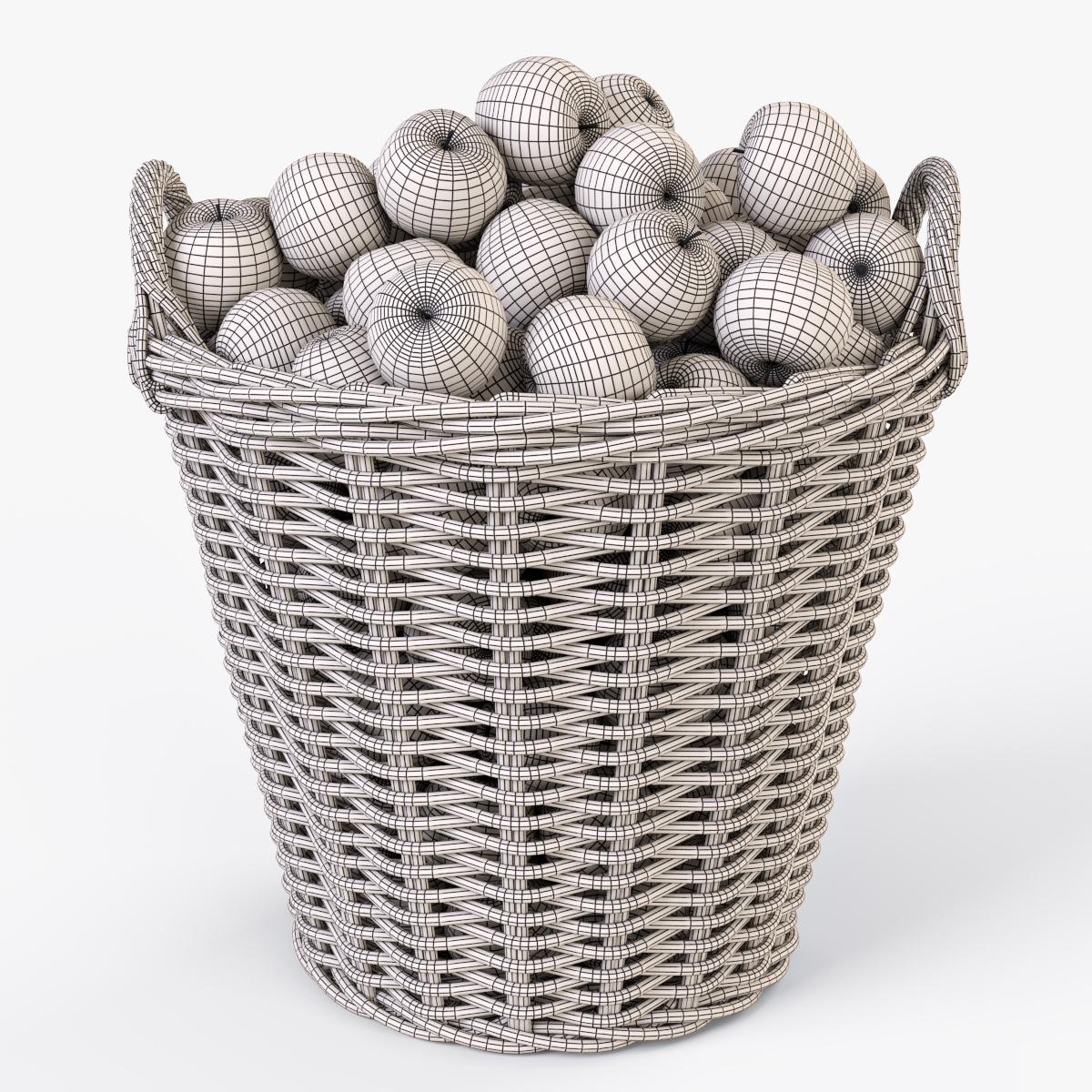 Wicker Basket Ikea Nipprig With Apples