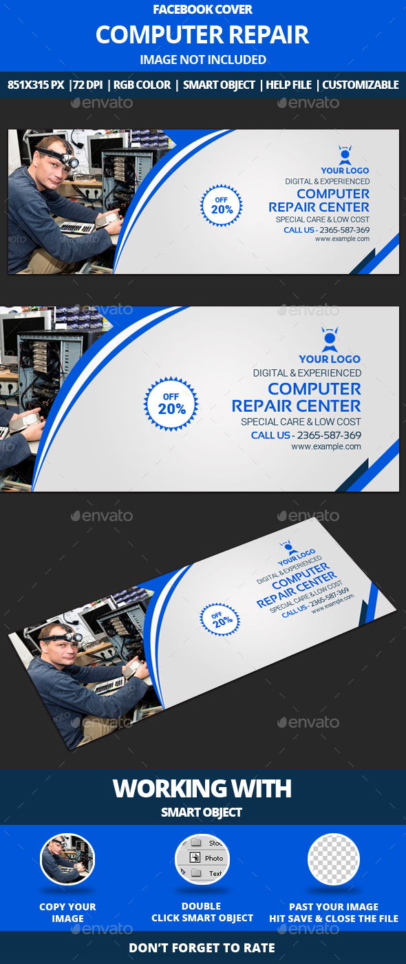 Computer repair facebook cover by greatbon9 graphicriver computer repair facebook cover facebook timeline covers social media magicingreecefo Images