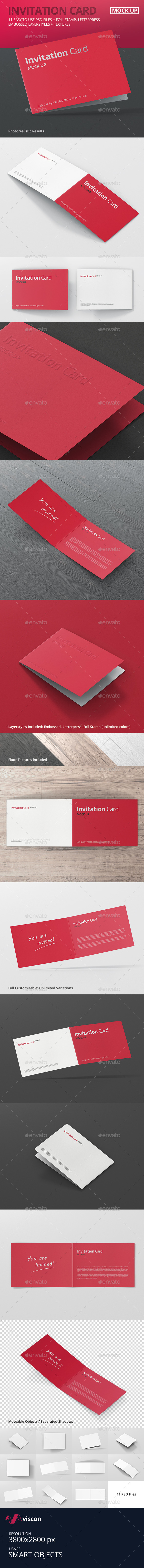 Invitation Card Mock-Up - Miscellaneous Print